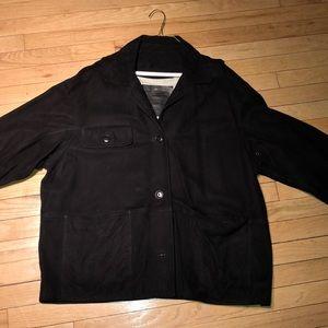 Coach black suede jacket large